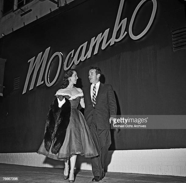Couple goes out to the famous Macambo nightclub on the Sunset Strip in late August 1954 in Hollywood, California.