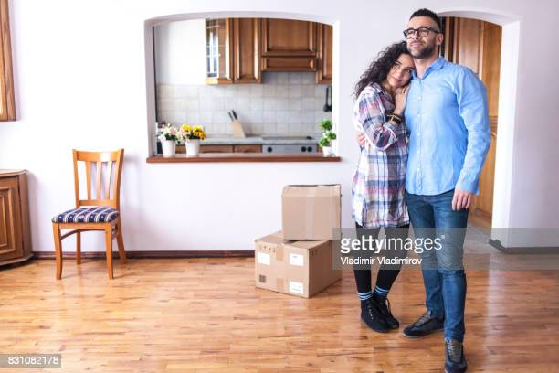 Couple going in new home