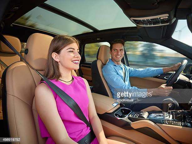 Couple going on a road trip