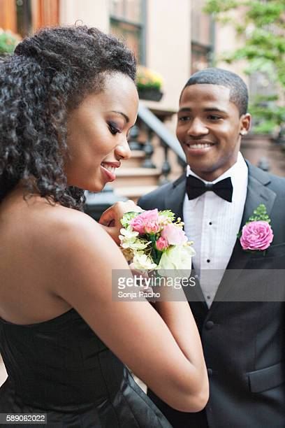 Couple going to prom