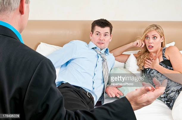 couple got caught cheating - ii - cheating wives photos stock photos and pictures