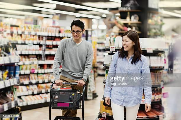 お買い物は、スーパーマーケット
