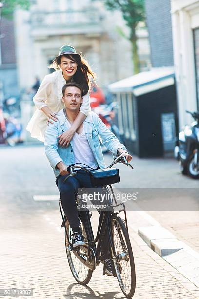 Couple Happy in the Street