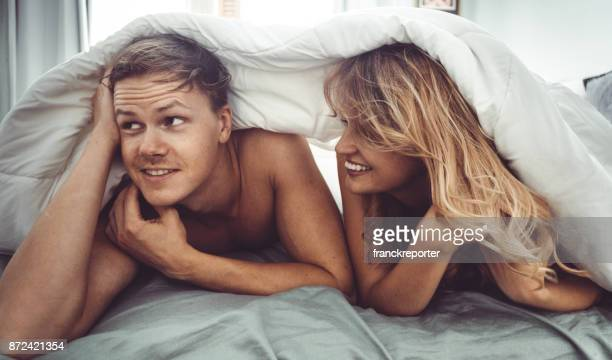 couple have fun in the bedroom