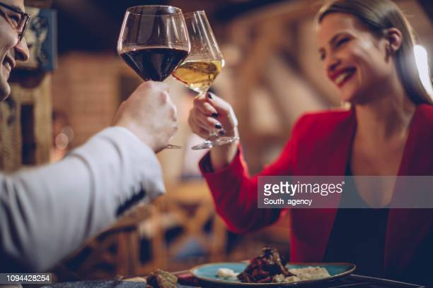 couple having a romantic night - evening meal stock pictures, royalty-free photos & images