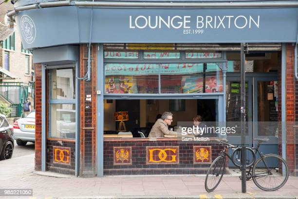 A couple having an evening meal at Lounge Brixton on the 23rd June 2018 in Brixton in the United Kingdom