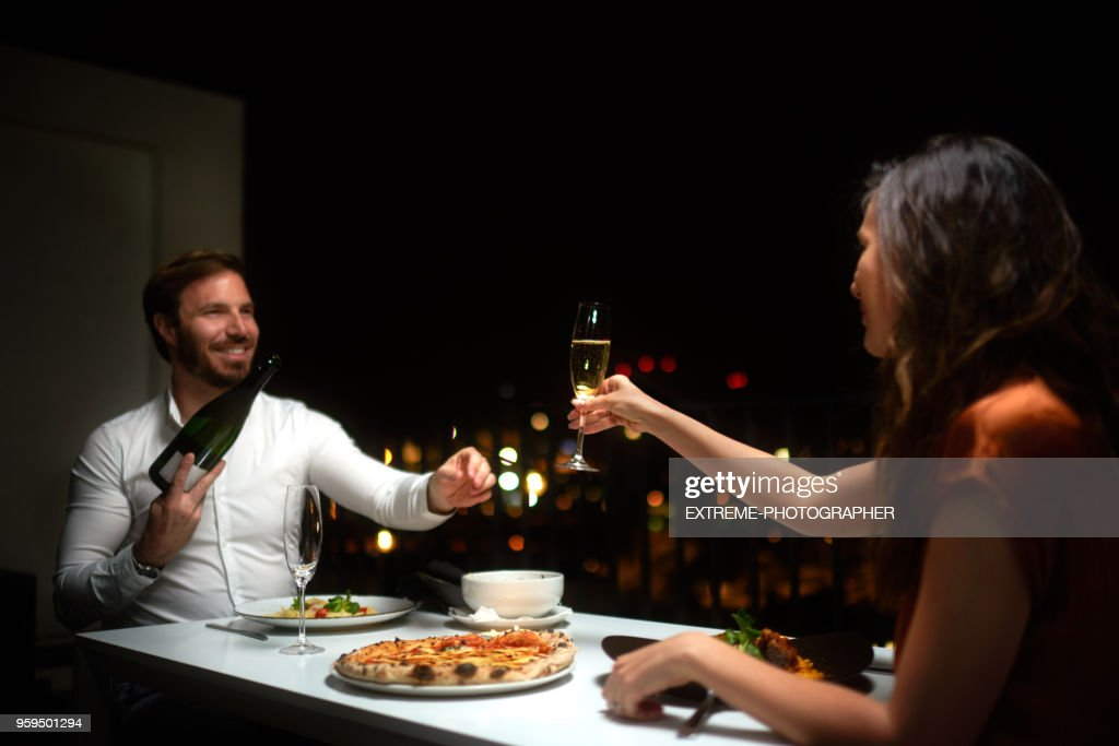 Paar beim Abendessen : Stock-Foto