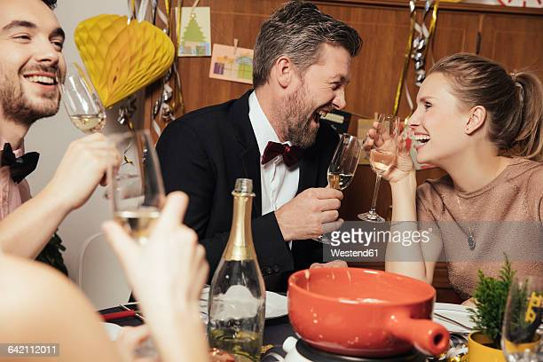 Couple having fun at New Year's Eve party