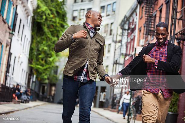 Couple having fun in Greenwich Village - NY