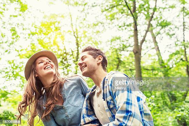 couple having fun in nature summer love - mlenny stock pictures, royalty-free photos & images