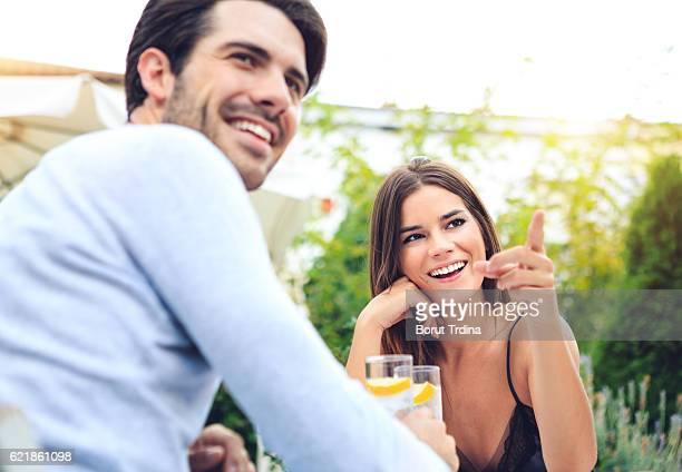 couple having fun in the bar - レリダ県 ストックフォトと画像