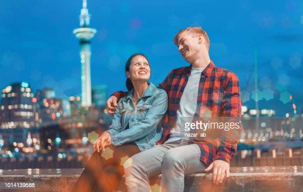 Couple having fun outdoor.
