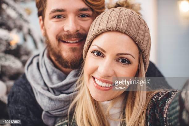 Couple having fun outdoors.