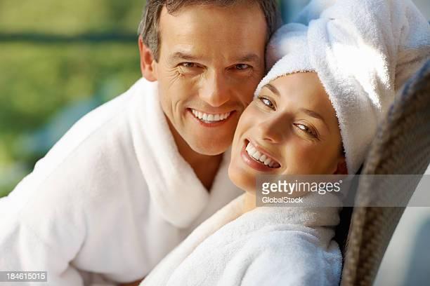Paar haben gute Zeit im spa