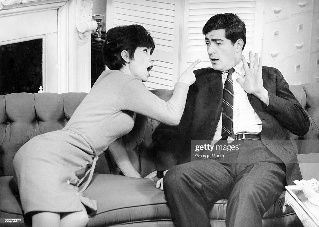 Couple having heated domestic quarrel : Stock Photo