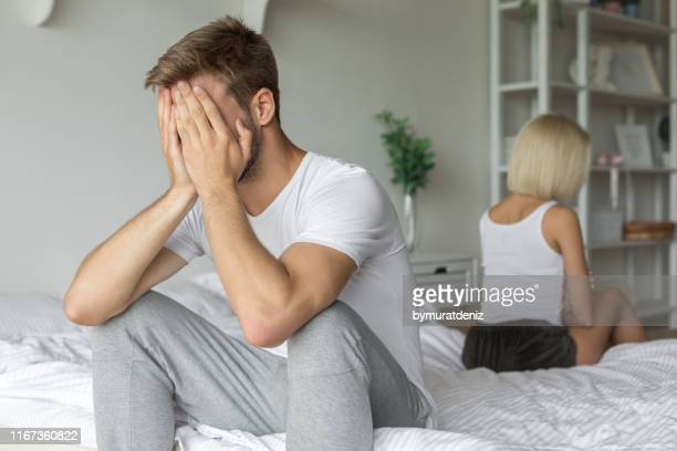 couple having problems - erectile dysfunction stock pictures, royalty-free photos & images