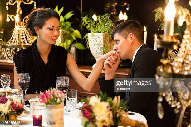 Couple having romantic dinner