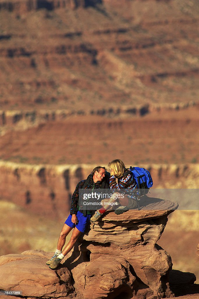 Couple hiking : Stock Photo