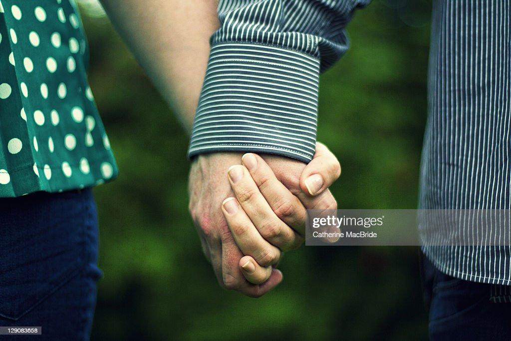 couple holding hand : Stock Photo