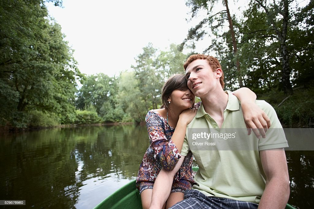 Couple in a Boat : Stock Photo
