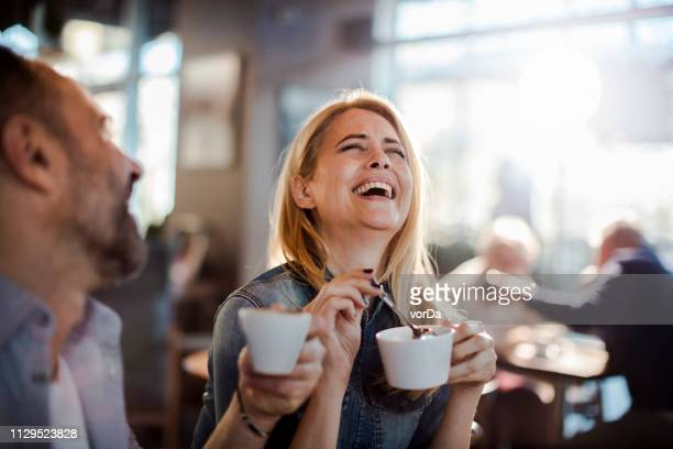 couple in a cafe - two parents stock pictures, royalty-free photos & images