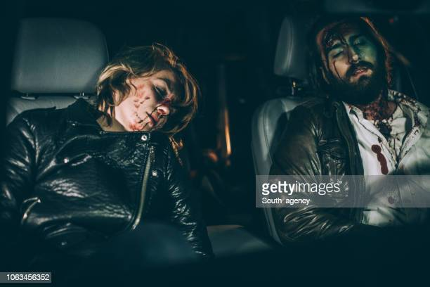 couple in a car accident - of dead people in car accidents stock pictures, royalty-free photos & images