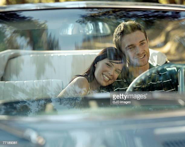A couple in a car