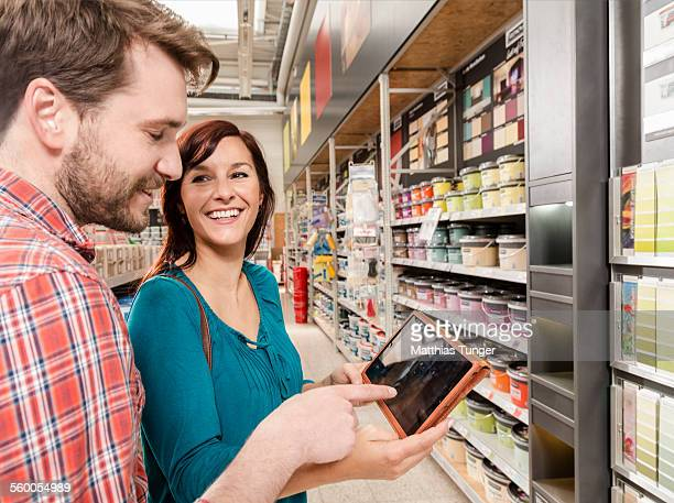 Couple in a hardware store