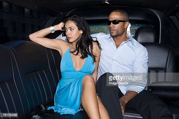 Couple in a limousine