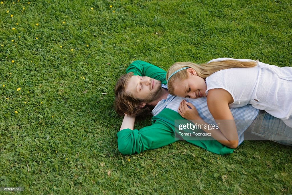 Couple in a Meadow : Foto stock