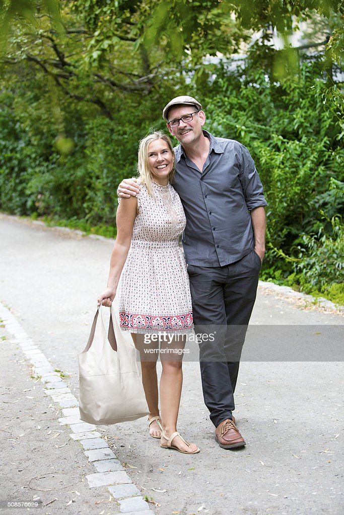 couple in a park : Stock Photo