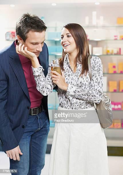 カップルの香水店のテスト