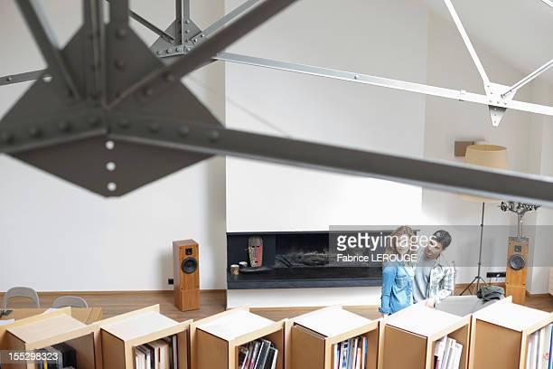 Couple in a studio apartment