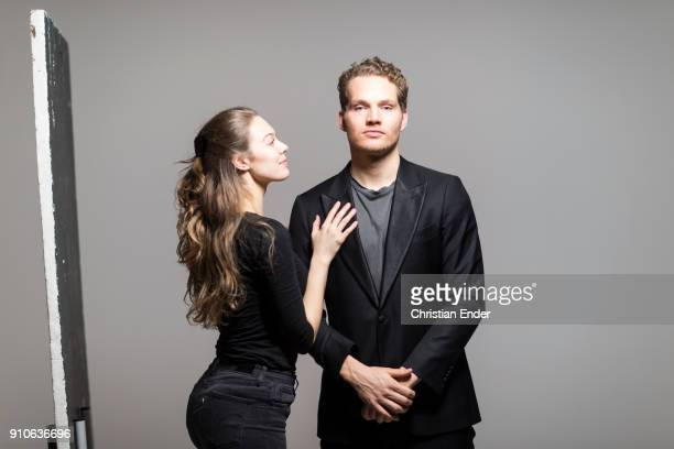 Couple in a studio