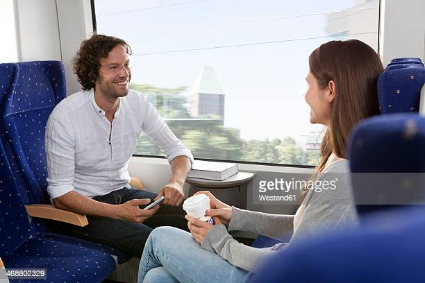 Couple in a train