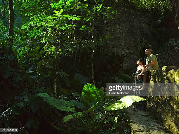 couple in an enchanted forest - las posas stock pictures, royalty-free photos & images