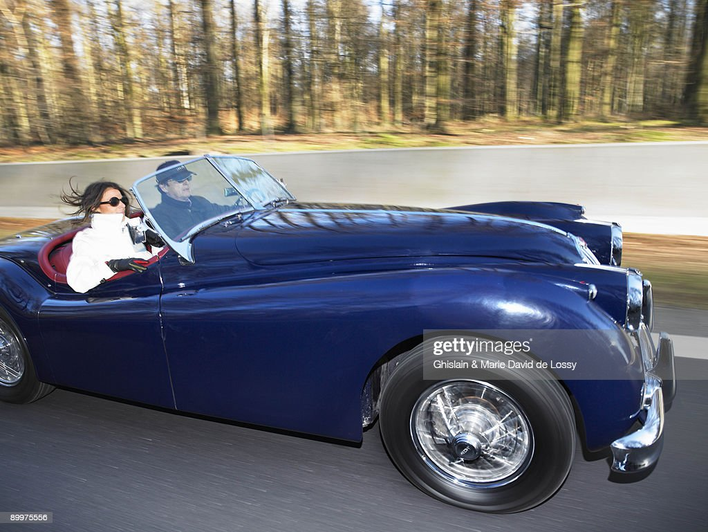 Couple In An Old Convertible, Freeway