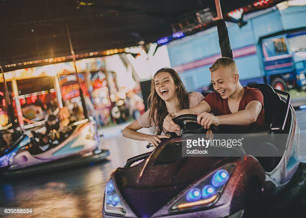 Couple in Bumper Cars