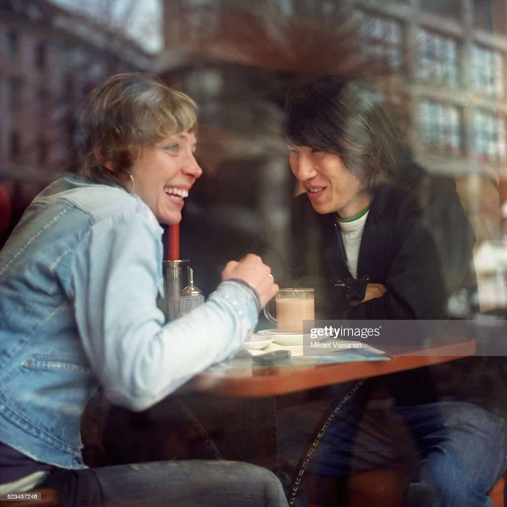 Couple in Cafe : Stock Photo