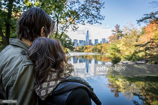 Couple in Central Park in New York City in Autumn