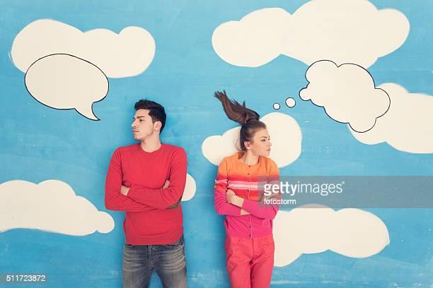 Couple de bande dessinée : Partage amour
