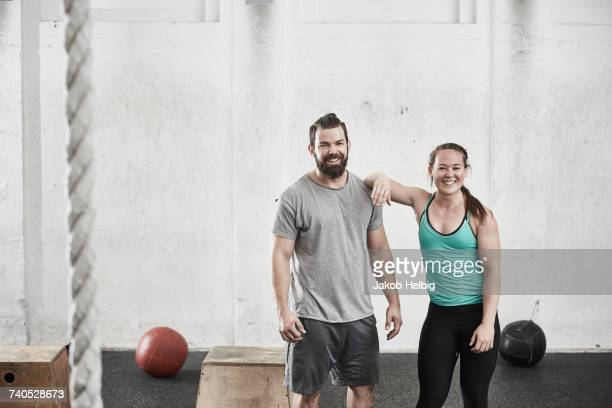 Couple in cross training gym