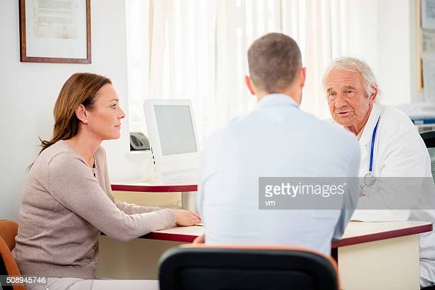 Couple in doctor's office