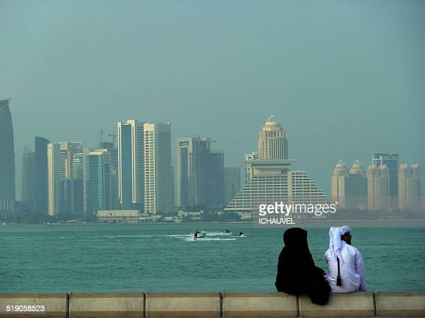 A couple in Doha city