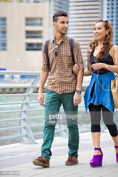 Couple in Dubai Marina