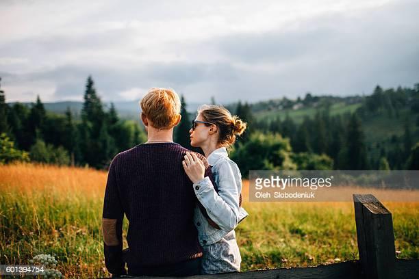 Couple in field