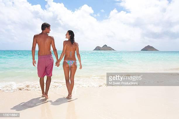 Couple in hawaii beach