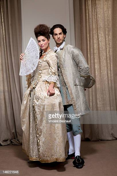 a couple in historical costume - society beauty stock pictures, royalty-free photos & images