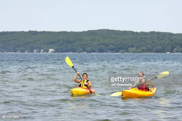 Couple in kayaks at Clinch Park.