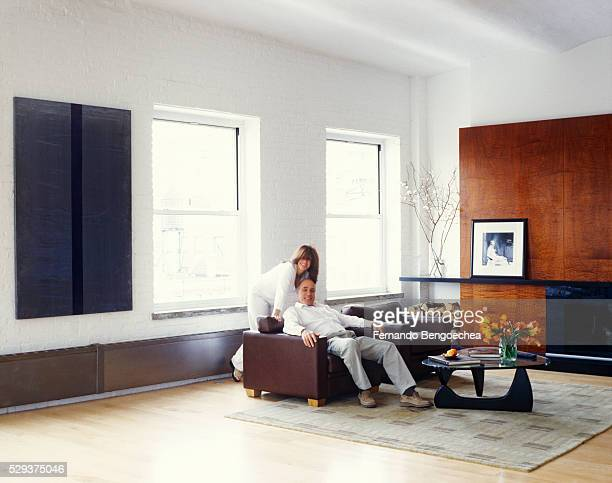 Couple in Loft Apartment